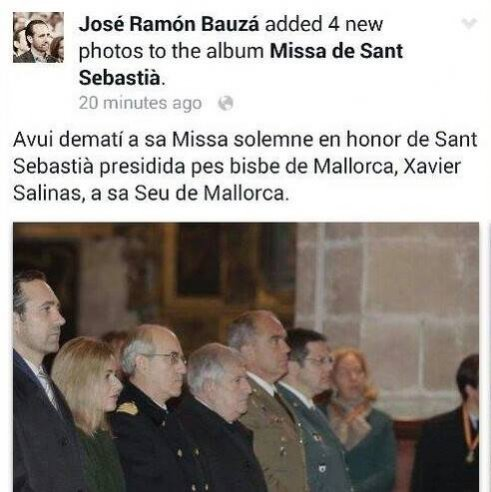 Bauzá confón ES BISBE amb EL BISBE.
